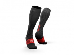 Compressport skarpety kompresyjne Full Socks Race&Recovery czarne